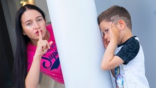 Artem plays hide with Mom - Fun play for Kids