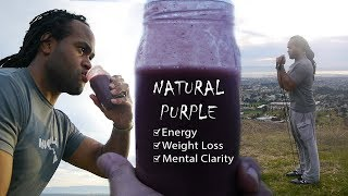 Smoothie Recipe For Weight Loss, Boosting Energy & Brain Alertness | Natural Purple