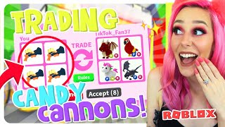 I Traded ONLY LEGENDARY CANDY CANNONS FOR 24 HOURS! (Rarest Item) Roblox Adopt Me Trading Challenge