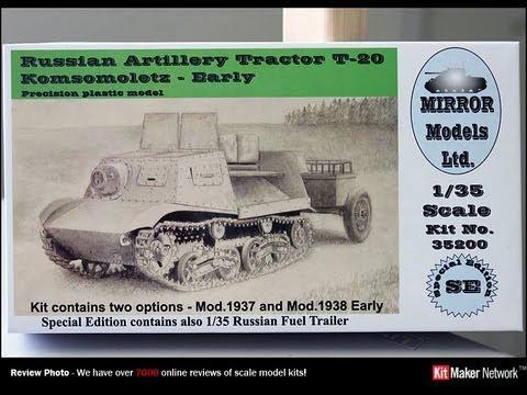 Mirror Models Russian Artillery Tractor T-20 Komsomoletz w/ Fuel Trailer