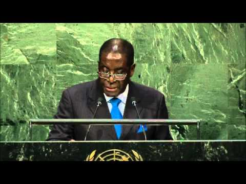 Robert Gabriel Mugabe Addressing the UN General Assembly, 70th Session