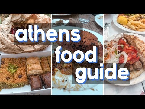 ATHENS food guide – Greek dishes you have to try – food tour