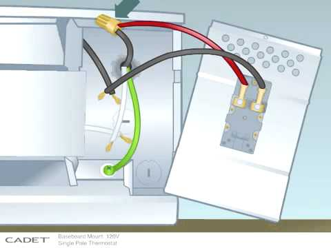 how to install a single pole 120 volt baseboard mount thermostat