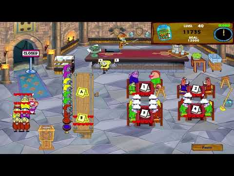 SpongeBob SquarePants Diner Dash 2 - Two Times The Trouble - Level #40 - One More Shift