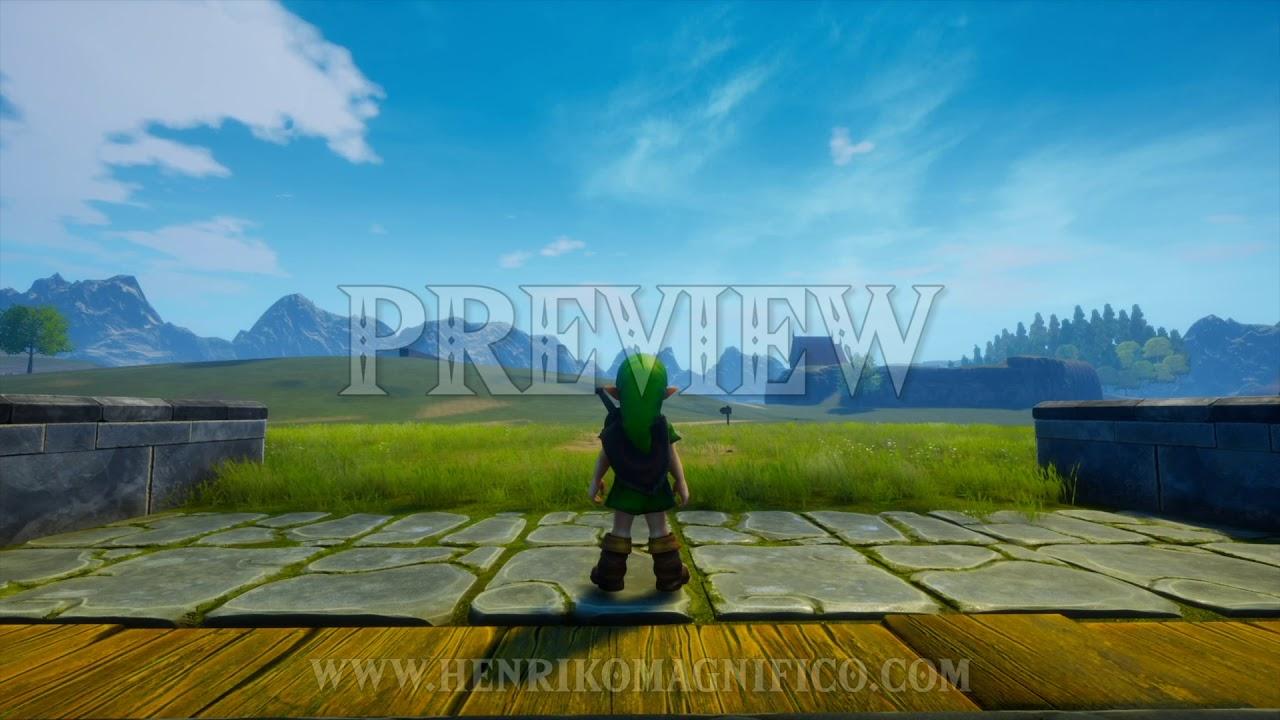 Zelda Ocarina of Time 4K UE4 Project (Hyrule Field Gate) - 1080p 60FPS Looping Background