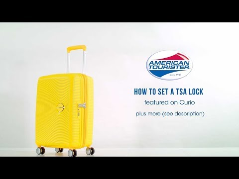 American Tourister Curio - How To Set A Code On Your TSA Lock