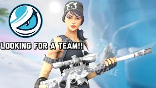 Free Agent,Looking For A Team 👀 #Fortnite