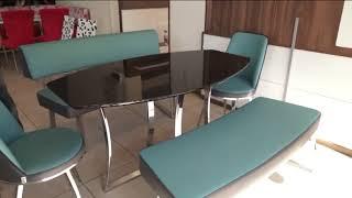 Almoda Mobilya Mutfak Köşe  Takımları Setler Masa Sandalye