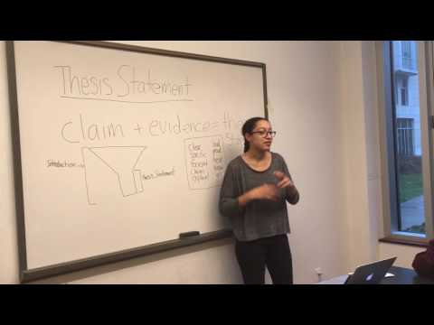 Breakthrough Collaborative Mock Teaching Video: Creating a Thesis Statement (Writing)