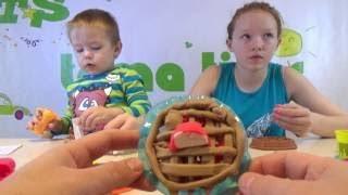 Видео для детей - #ВеселаяШкола #КапукиКануки с Play Doh/Плей ДО: лепка животных, развиваю