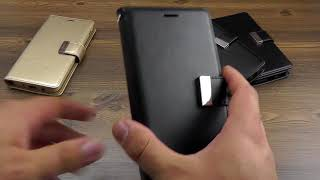 "ОБЗОР: Кожаный Чехол-Книжка для Samsung Galaxy J7 SM-J730 2017 ""Mercury Goospery"" серия ""Rich Diary"""