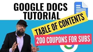 Google Docs Tutorial Table of Contents