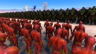 2.000 HULK Vs 20.000 FLASH   Ultimate Epic Battle Simulator