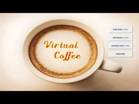 Virtual Coffee ♨ Energy Music  ♨ Binaural Beats Energy Booster