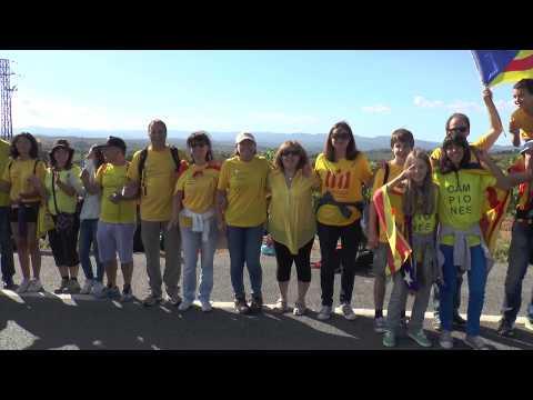 Sant Quirze del Vallès a la Via Catalana