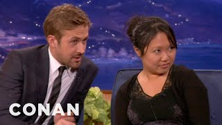 ryan gosling drafts an interview buddy from the audience conan on tbs