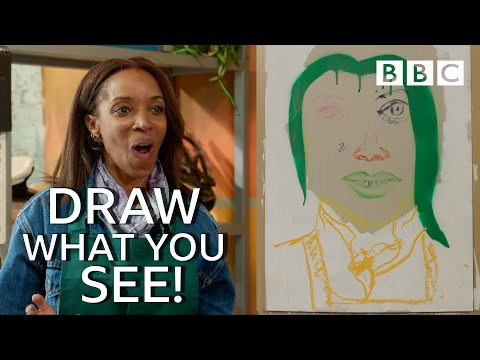 Celebrities painted her like this! - Celebrity Painting Challenge | BBC