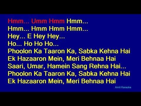 Download Lagu  Phoolon Ka Taaron Ka - Kishore Kumar Hindi Full Karaoke with s Mp3 Free