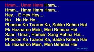 Phoolon Ka Taaron Ka - Kishore Kumar Hindi Full Karaoke with Lyrics