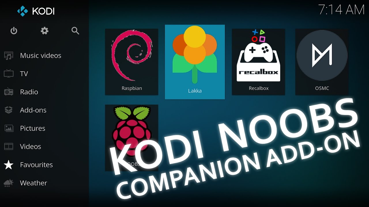 NOOBS Companion KODI Add-on for Raspberry Pi