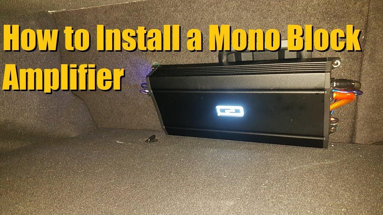 Mono Block Amplifier Install  Sub Amp Installation