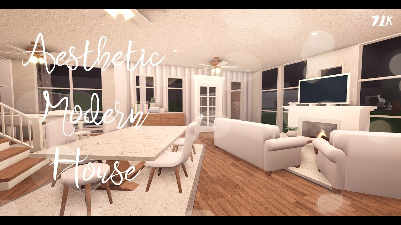 ROBLOX || Bloxburg || Aesthetic Modern House (71k) - YouTube