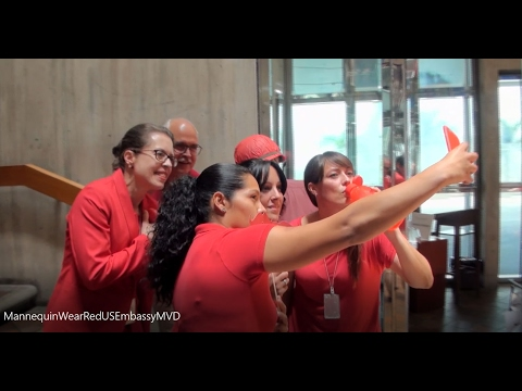 US Embassy Montevideo - Mannequin Challenge for National Wear Red Day
