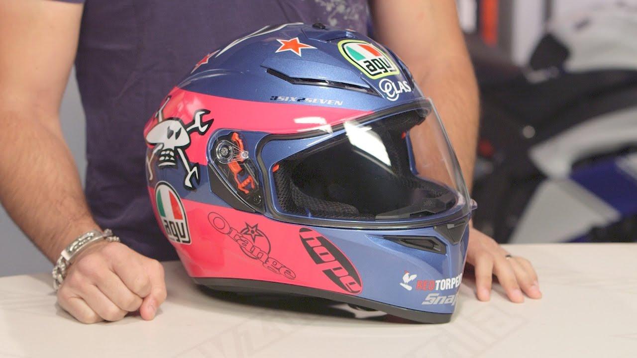 Helmets Agv K3 Sv Guy Martin Pink Blue Motorcycle Motorbike Helmet Vehicle Parts Accessories Visitestartit Com