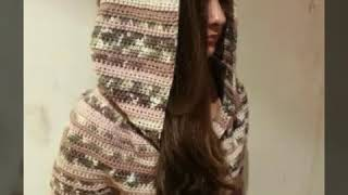598ba7892d8 Πλεκτή ζακέτα με κουκούλα! Sm - M, Μέρος 2ο! Art of crochet -