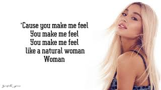 Baixar Ariana Grande - Natural Woman (Lyrics)(Aretha Franklin Tribute)