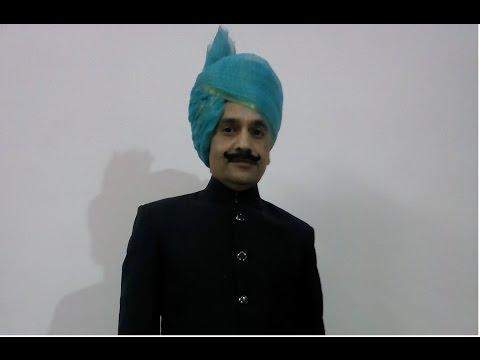 How to Tie / wear / wrap a Rajasthani / jaipuri / jodhpuri / Rajputi Safa / Turban / Pagdi.