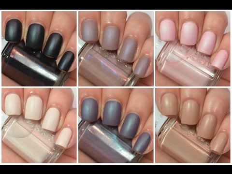 Essie Cashmere Matte Collection Swatch And Review