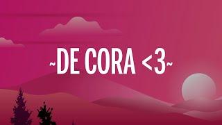 Rauw Alejandro & J Balvin - De Cora (Letra/Lyrics) cмотреть видео онлайн бесплатно в высоком качестве - HDVIDEO
