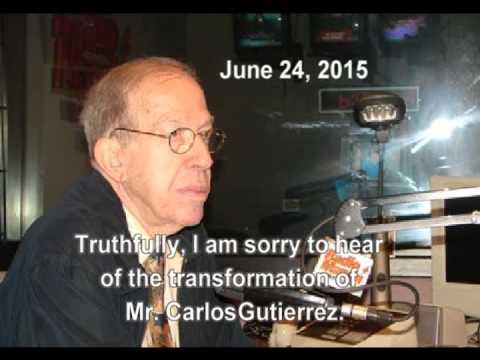 Armando Perez Roura - Carlos Gutierrez is not Cuban