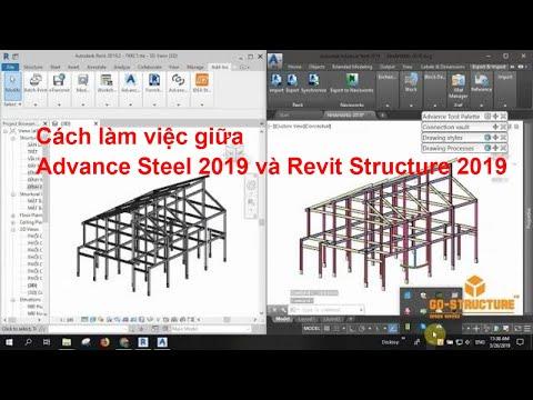 TIPS] Cách để làm việc giữa Advance Steel 2019 & Revit