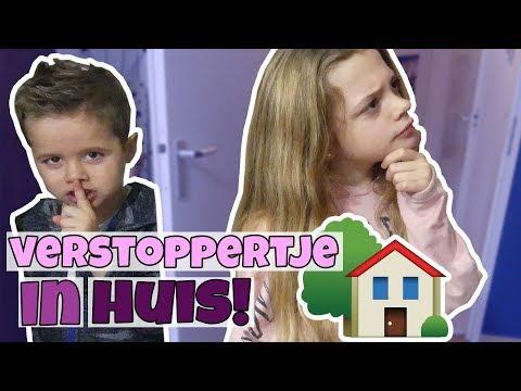 VERSTOPPERTJE SPELEN (door het hele huis) !! 🏠!! - Broer en Zus TV VLOG #252