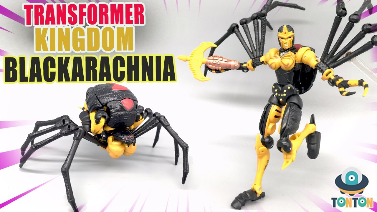 Transformer WFC Kingdom Blackarachnia In-Hand by TonTon Reviews
