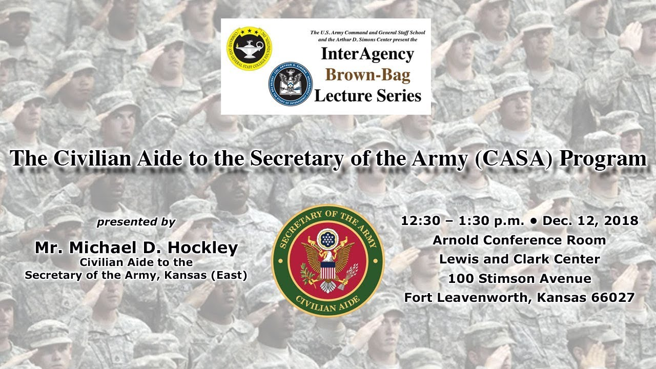Civilian Aide to the Secretary of the Army presents at IA
