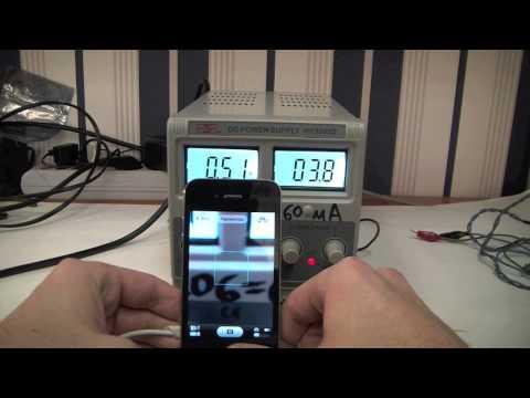 Потребление тока сотовым телефоном. Диагностика телефона