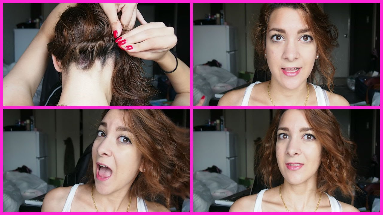 How To Style Curly Hair Without Heat Beach Waves  How To Curl Shoulder Length Hair Without Heat  Youtube