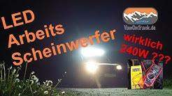 Mehr Licht mit LED Bar Arbeitsscheinwerfer Balken mit Magnethalterung wirklich 240W ? LED BAR