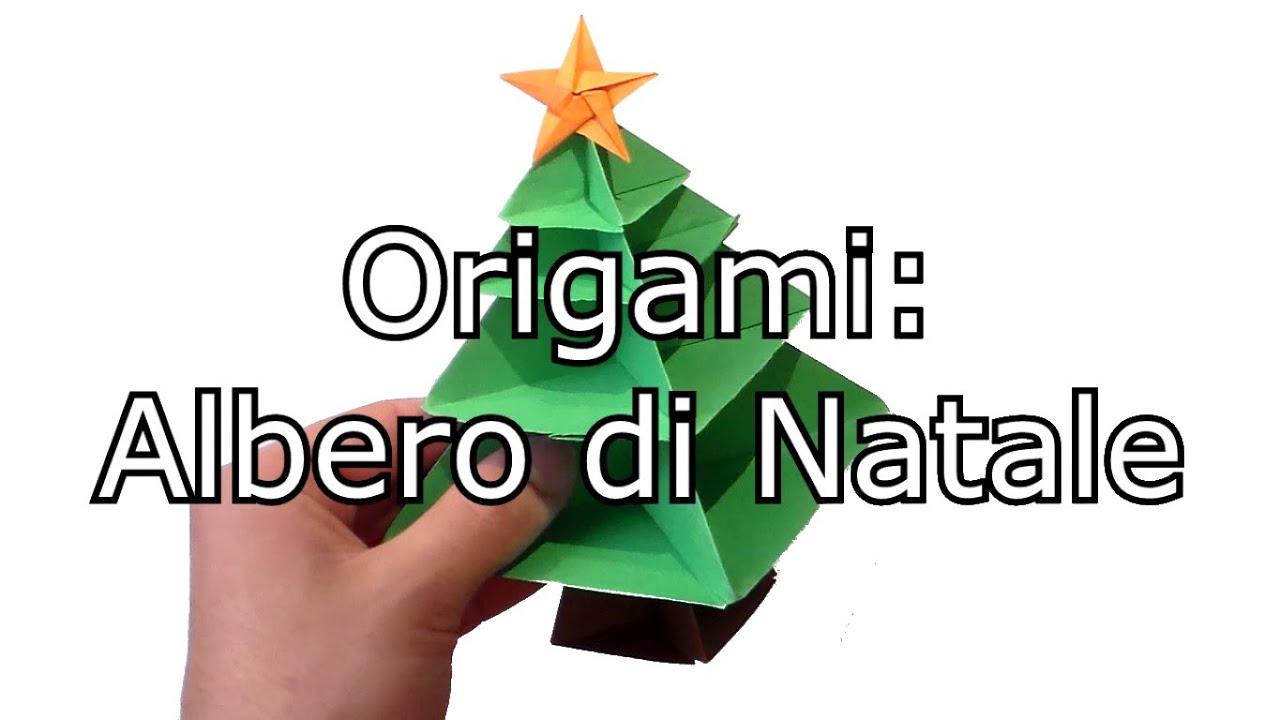 Albero Di Natale Youtube.Origami Stella Per L Albero Di Natale Facile Youtube
