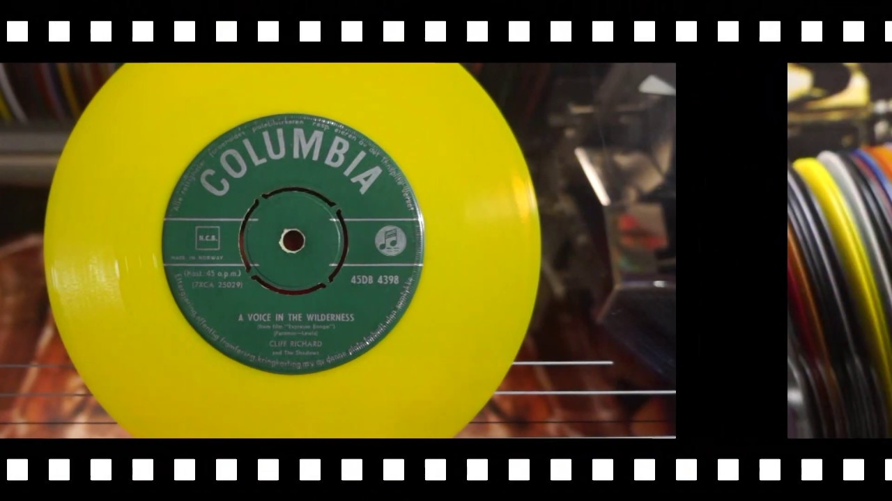 Jonnie's Jukebox Plays: A Voice In The Wilderness - Cliff Richard 1960 Yellow 45rpm Record