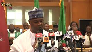 World Press Conference : Saraki Reads Riot Act To APC Lawmakers Over Siege To NASS