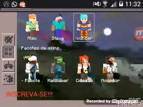 Download Goku Minecraft Skin Videos - Skins para minecraft pe de goku