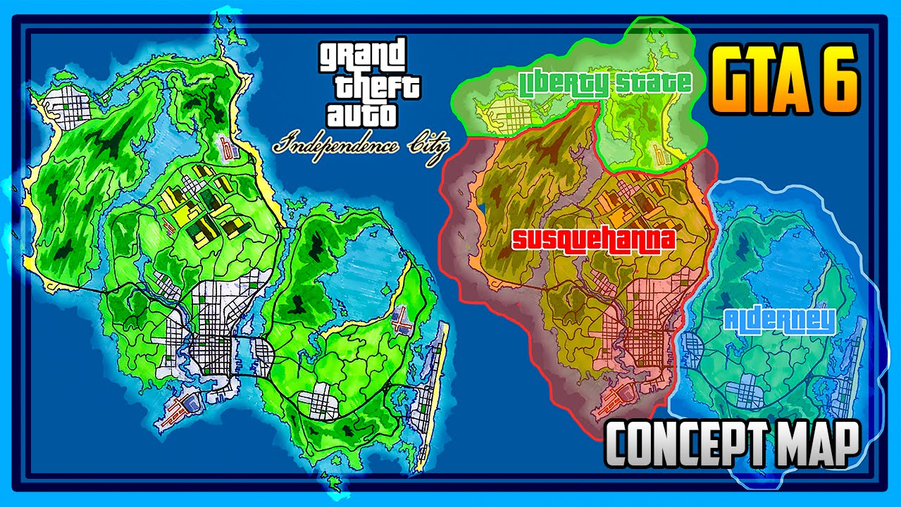 GTA 6 CONCEPT MAP! Independence City / Philadelphia in GTA! - YouTube