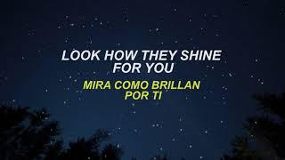 Coldplay - Yellow (Letra Lyrics English/Spanish - Español/Inglés)