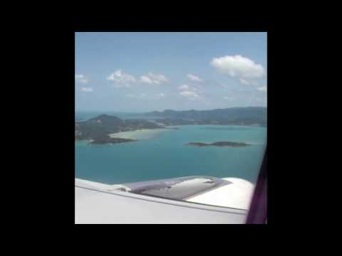 Landing in Koh Samui Airport USM — Bangkok Airways Airbus A319