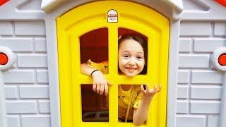ÖYKÜ and DAD Play hide and Seek, home door is key, fun kid video Oyuncak Avı