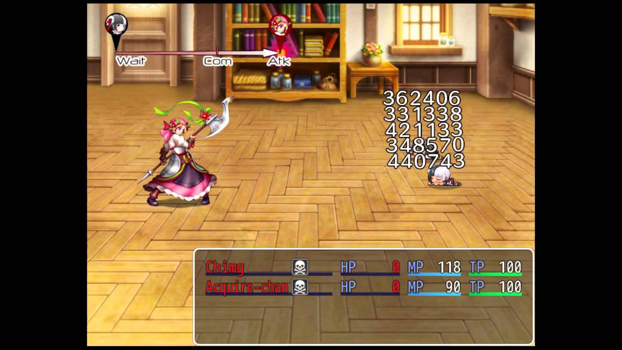 RPG Maker MV: ATB Action Order Gauges with Yanfly ATB by HimeWorks